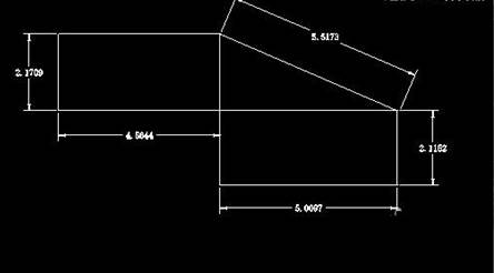 CAD测量斜线长度的方法