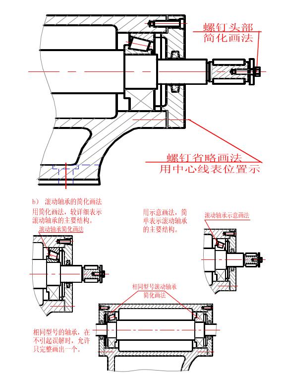 CAD绘制装备图的简化画法