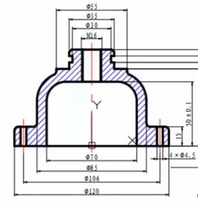 教你如何CAD标注溢流阀上盖