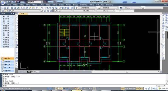 CAD建筑计算平面图中房屋的建筑面积方法
