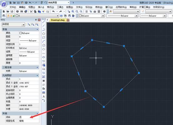 CAD软件边界不闭合设置为闭合操作