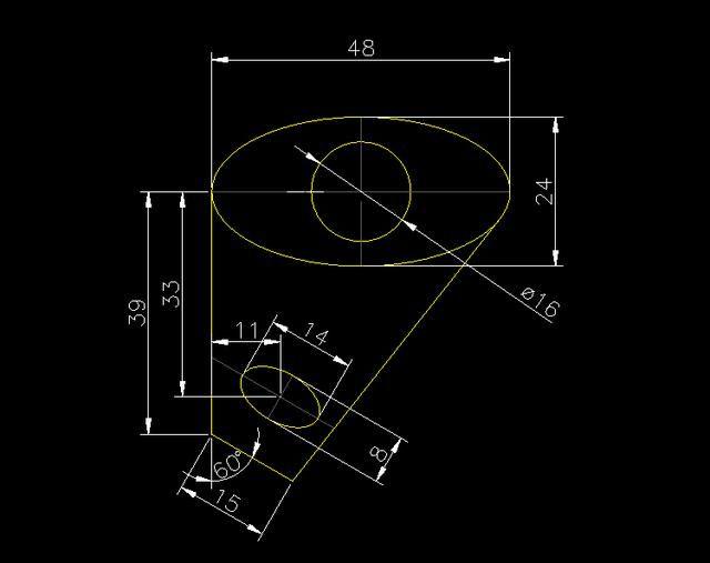 CAD机械制图中圆锥体的绘制