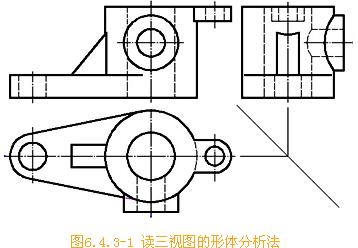 CAD机械制图中形体分析法的使用