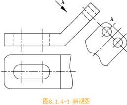 CAD机械制图中斜视图的使用