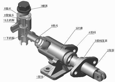 CAD机械制图教程之典型机构CAD机械制图-柱塞泵