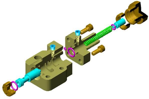 CAD机械制图教程之典型机构机械制图-溢流阀