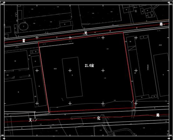 扬州市某区某处地形结构图设计CAD图纸