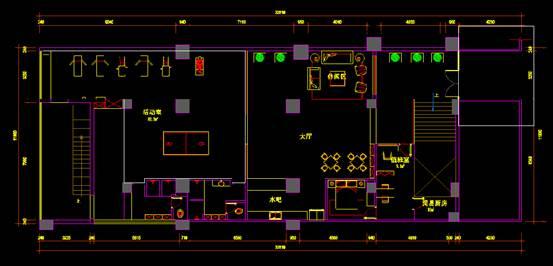 CAD室内设计图库大全之活动室平面方案