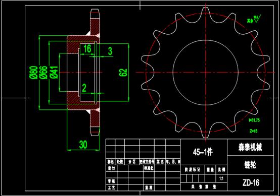 包装穿绳器CAD机械实例图纸