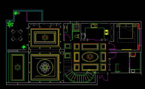 CAD室内设计图库大全之别墅设计图