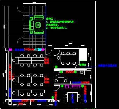 CAD室内设计图库大全之水立方布置