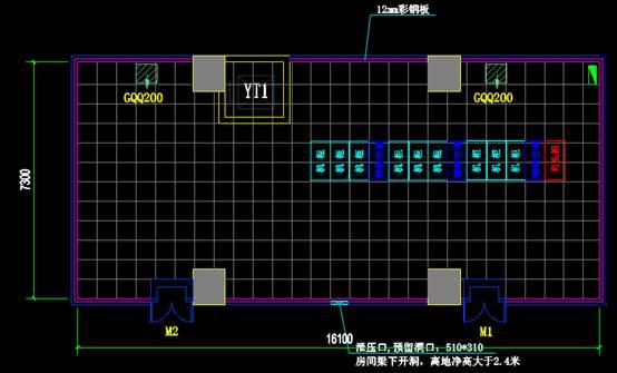 CAD室内设计图库大全之机房平面布置