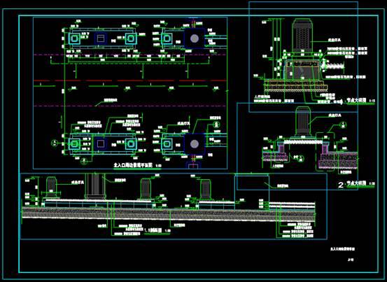 CAD工程图纸中的景观详图