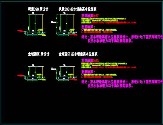 CAD工程图纸中的渗水分析