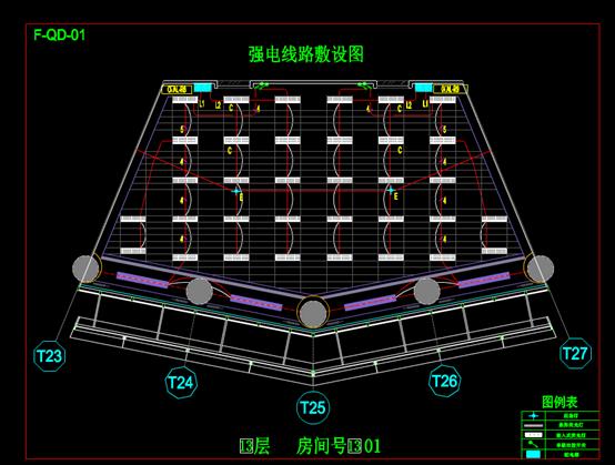 南平大桥的CAD电气工程制图