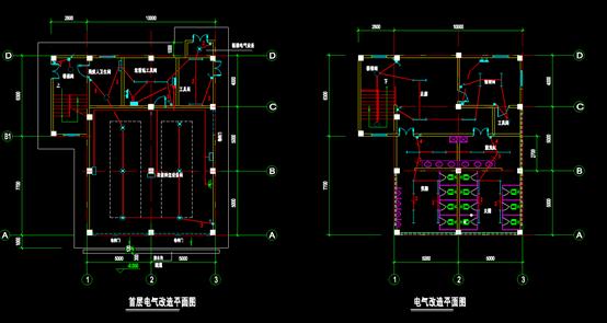 某楼层CAD电气工程制图.