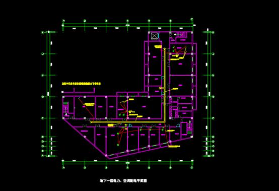 库区照明的CAD电气工程图