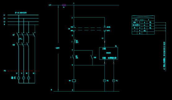江南光缆CAD电气电路总图