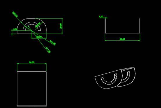 CAD机械零件之太阳能支架CAD图纸设计二