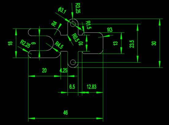 CAD机械零件之下料模块CAD图纸设计