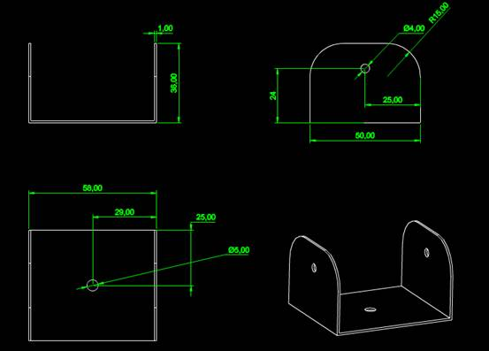 CAD机械零件之太阳能支架CAD图纸设计一