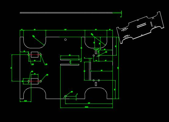 CAD机械零件之底盘CAD图纸设计