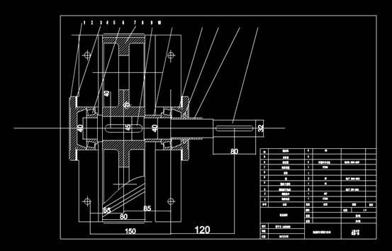 CAD机械零件之轴系部件CAD图纸设计
