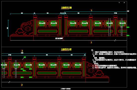 结构图设计CAD之栏杆设计