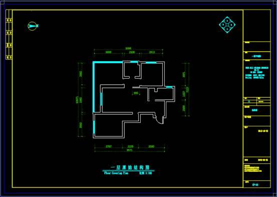 结构图设计CAD之展厅设计