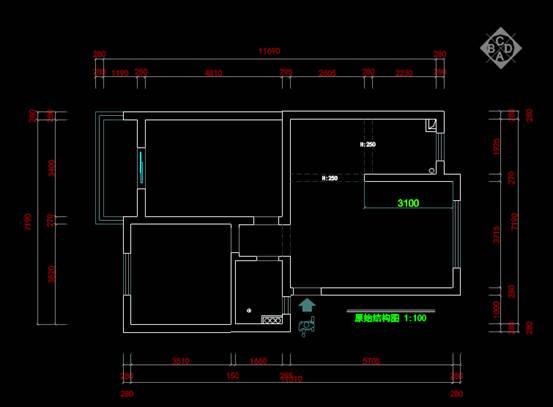 CAD家装图库之两室两厅装修图