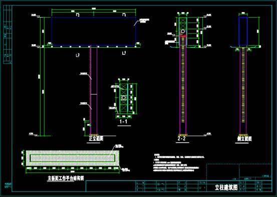 结构图设计CAD之广告牌设计