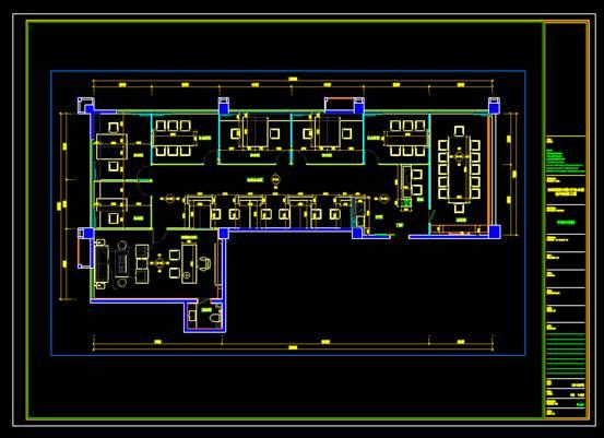 CAD家装图库之办公室室内装修图