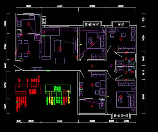 CAD家装图库之住宅家装图