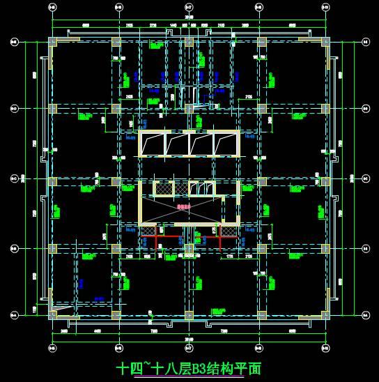 结构图设计CAD之结构平面设计