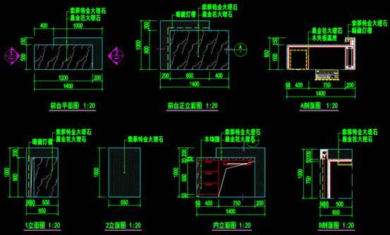 建筑装饰CAD图之设计详图