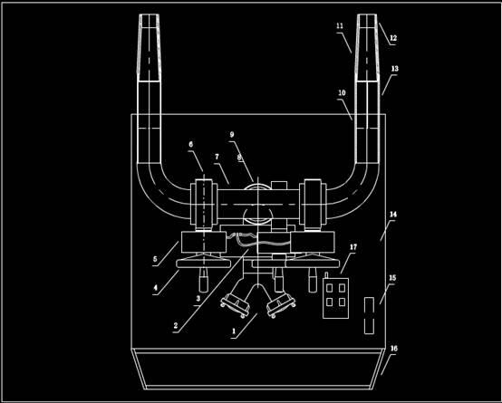 炮俯视CAD机械实例图