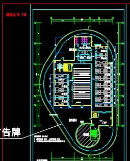 加油站完整CAD绘制户型图