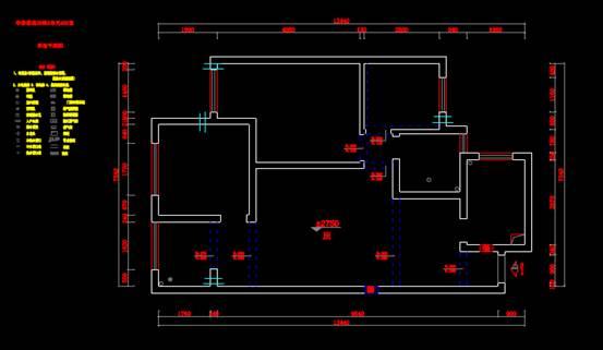 华泰小区单元CAD绘制户型图