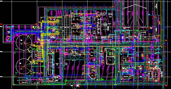 厂区地下管网CAD绘制户型图