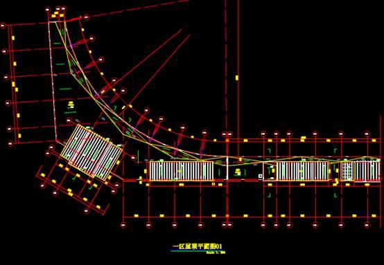 市体育场幕墙工程设计CAD绘制户型图