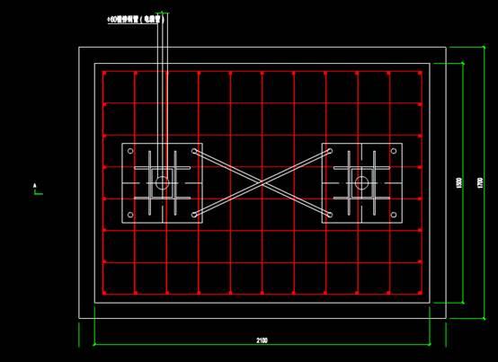 4S店塔牌基础结构CAD图