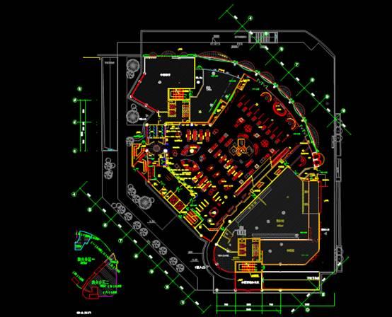 大型超市1楼CAD施工图