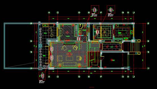 CAD室内设计图库大全之平面系统图