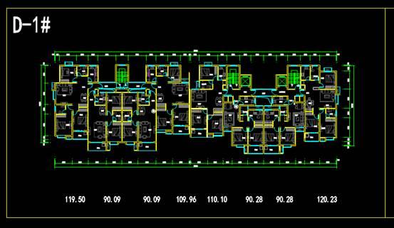 CAD室内设计图库大全之北关户型
