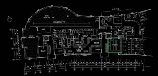 CAD室内设计图库大全之洗浴中心平面图