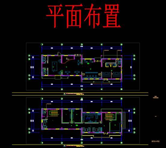 CAD室内设计图库大全之酒吧砖排版