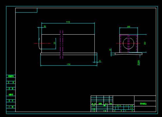 CAD施工图-机械限位设计工装施工详图