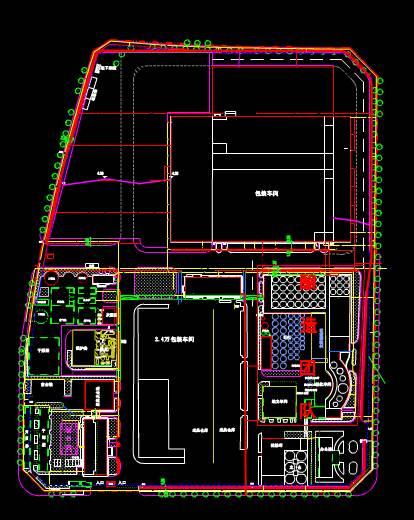 工装施工全厂平面CAD施工图