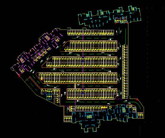 CAD机械设备图纸之地下室车位CAD图纸