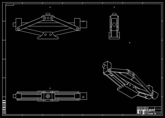 CAD机械设备图纸之千斤顶